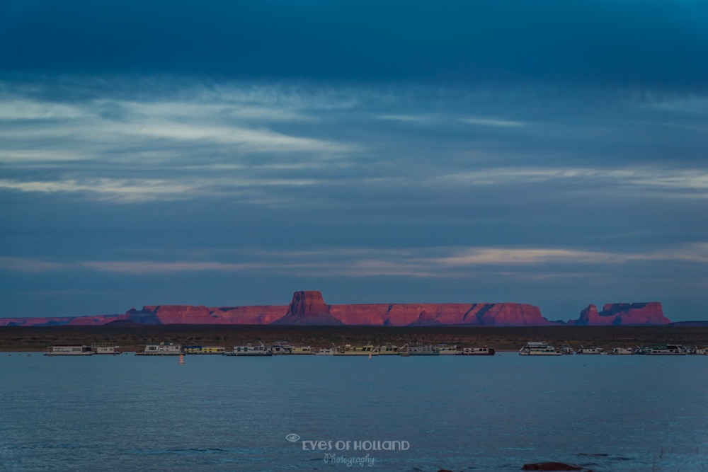 Sunset bij Lake Powell